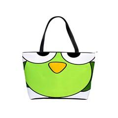 Bird Big Eyes Green Shoulder Handbags by Alisyart