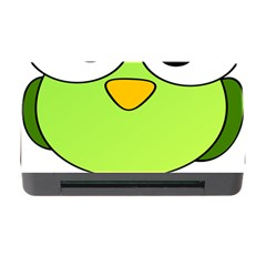 Bird Big Eyes Green Memory Card Reader With Cf by Alisyart