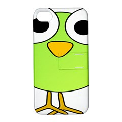 Bird Big Eyes Green Apple Iphone 4/4s Hardshell Case With Stand by Alisyart