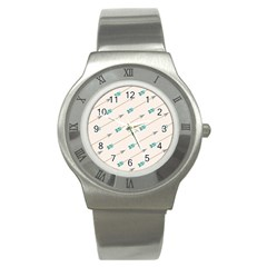 Arrow Quilt Stainless Steel Watch by Alisyart