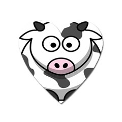 Animals Cow  Face Cute Heart Magnet by Alisyart