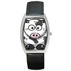 Animals Cow  Face Cute Barrel Style Metal Watch by Alisyart