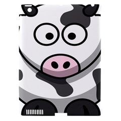 Animals Cow  Face Cute Apple Ipad 3/4 Hardshell Case (compatible With Smart Cover) by Alisyart