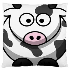 Animals Cow  Face Cute Large Cushion Case (two Sides) by Alisyart