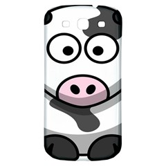 Animals Cow  Face Cute Samsung Galaxy S3 S Iii Classic Hardshell Back Case by Alisyart