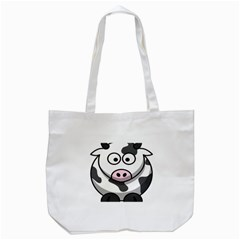 Animals Cow  Face Cute Tote Bag (white) by Alisyart