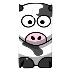 Animals Cow  Face Cute Galaxy Note 4 Back Case by Alisyart