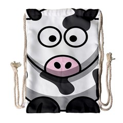 Animals Cow  Face Cute Drawstring Bag (large) by Alisyart