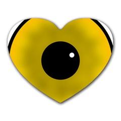 Big Eye Red Black Heart Mousepads by Alisyart