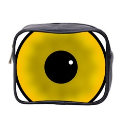 Big Eye Red Black Mini Toiletries Bag 2 Side by Alisyart