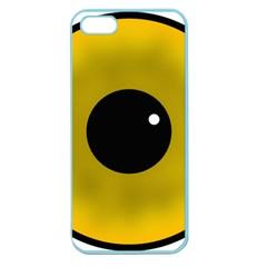 Big Eye Red Black Apple Seamless Iphone 5 Case (color) by Alisyart