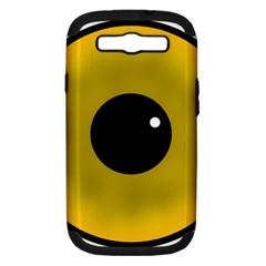 Big Eye Red Black Samsung Galaxy S Iii Hardshell Case (pc+silicone) by Alisyart