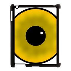 Big Eye Red Black Apple Ipad 3/4 Case (black) by Alisyart