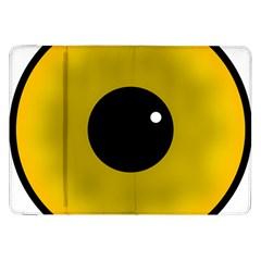 Big Eye Red Black Samsung Galaxy Tab 8 9  P7300 Flip Case by Alisyart