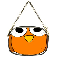 Bird Big Eyes Orange Chain Purses (one Side)  by Alisyart