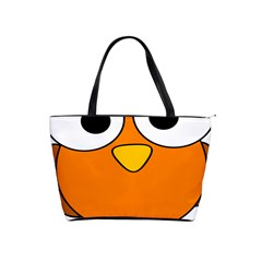 Bird Big Eyes Orange Shoulder Handbags by Alisyart