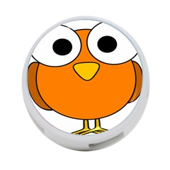 Bird Big Eyes Orange 4 Port Usb Hub (one Side) by Alisyart
