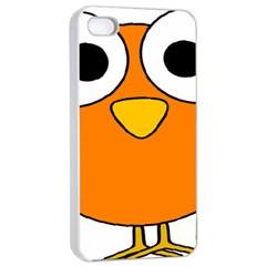 Bird Big Eyes Orange Apple Iphone 4/4s Seamless Case (white) by Alisyart