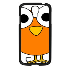 Bird Big Eyes Orange Samsung Galaxy S4 I9500/ I9505 Case (black) by Alisyart