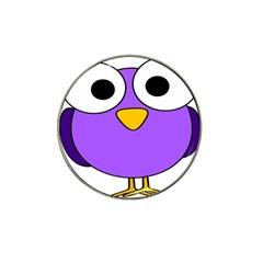 Bird Big Eyes Purple Hat Clip Ball Marker by Alisyart