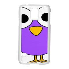 Bird Big Eyes Purple Samsung Galaxy S5 Case (white) by Alisyart