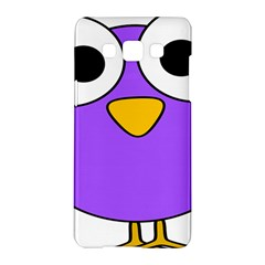Bird Big Eyes Purple Samsung Galaxy A5 Hardshell Case  by Alisyart