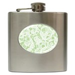 Pattern Hip Flask (6 oz) Front