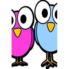 Bird Big Eyes Pink Blue 5 5  X 8 5  Notebooks by Alisyart