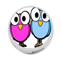 Bird Big Eyes Pink Blue 4 Port Usb Hub (two Sides)  by Alisyart