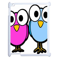Bird Big Eyes Pink Blue Apple Ipad 2 Case (white) by Alisyart