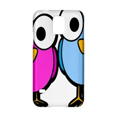 Bird Big Eyes Pink Blue Samsung Galaxy S5 Hardshell Case  by Alisyart