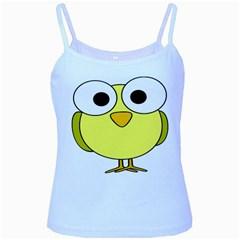 Bird Big Eyes Yellow Green Baby Blue Spaghetti Tank by Alisyart