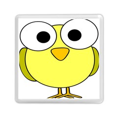 Bird Big Eyes Yellow Green Memory Card Reader (square)  by Alisyart