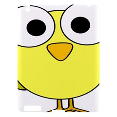 Bird Big Eyes Yellow Green Apple Ipad 3/4 Hardshell Case by Alisyart