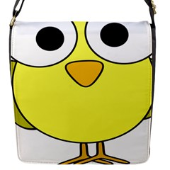 Bird Big Eyes Yellow Green Flap Messenger Bag (s) by Alisyart