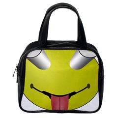 Bug Eye Tounge Classic Handbags (one Side) by Alisyart