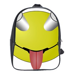 Bug Eye Tounge School Bags(large)  by Alisyart