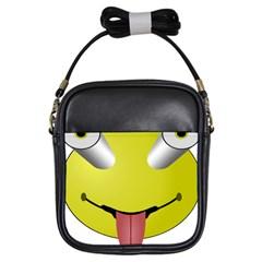 Bug Eye Tounge Girls Sling Bags by Alisyart