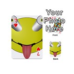 Bug Eye Tounge Playing Cards 54 (Mini)  Front - Heart7