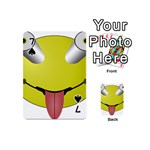 Bug Eye Tounge Playing Cards 54 (Mini)  Front - Spade7