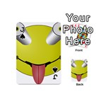 Bug Eye Tounge Playing Cards 54 (Mini)  Front - SpadeJ