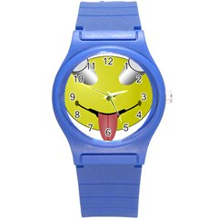 Bug Eye Tounge Round Plastic Sport Watch (s) by Alisyart