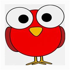 Bird Big Eyes Red Medium Glasses Cloth (2 Side) by Alisyart