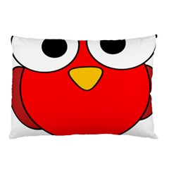 Bird Big Eyes Red Pillow Case by Alisyart