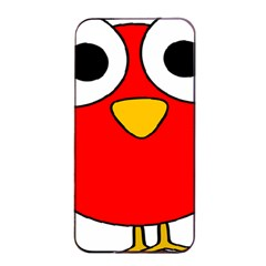 Bird Big Eyes Red Apple Iphone 4/4s Seamless Case (black) by Alisyart