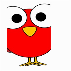 Bird Big Eyes Red Large Garden Flag (two Sides) by Alisyart