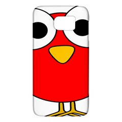 Bird Big Eyes Red Galaxy S6 by Alisyart