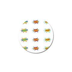 Boom Pow Pop Sign Golf Ball Marker (10 Pack) by Alisyart