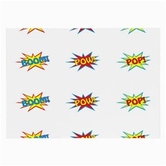 Boom Pow Pop Sign Large Glasses Cloth (2 Side) by Alisyart