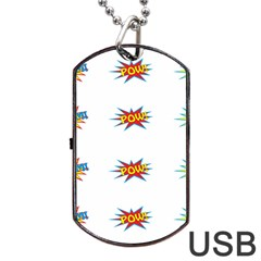 Boom Pow Pop Sign Dog Tag Usb Flash (two Sides) by Alisyart